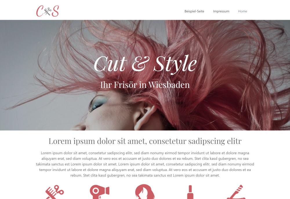 Webdesign für Frisöre