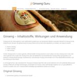 Ginseng Guru WordPress Design