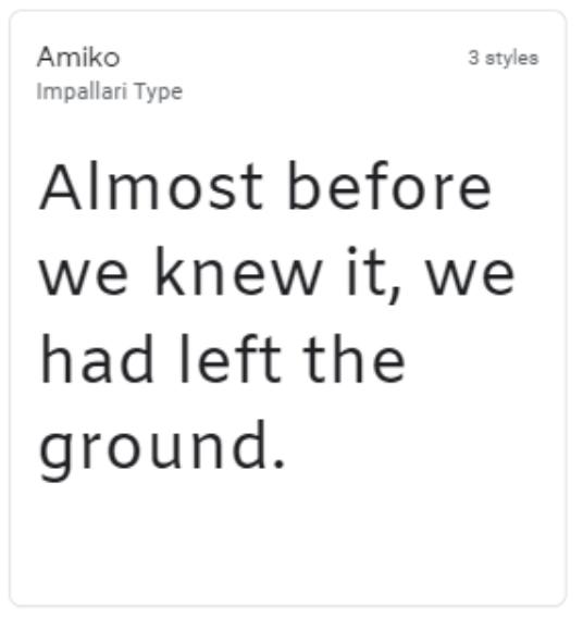Amiko google web font