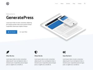 GeneratePress Theme WordPress Verzeichnis