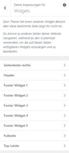 GeneratePress Widget Einstellungen