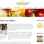 Italienische-Nudeln.de Screenshot