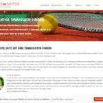 Tennissaiten-Finder.de Screenshot